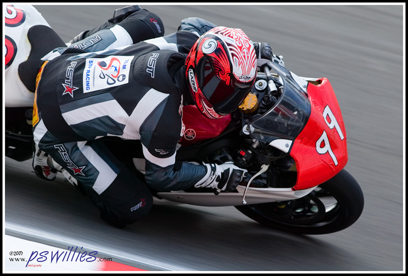 Rod Lynn on his STP Racing R1 in the Superstock Cup